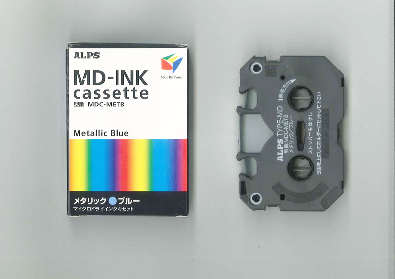 MDC-METB Alps Metallic Blue MicroDry (MD) Ink Cartridge for MD 5500 5000 1300 1000 Printer 106040